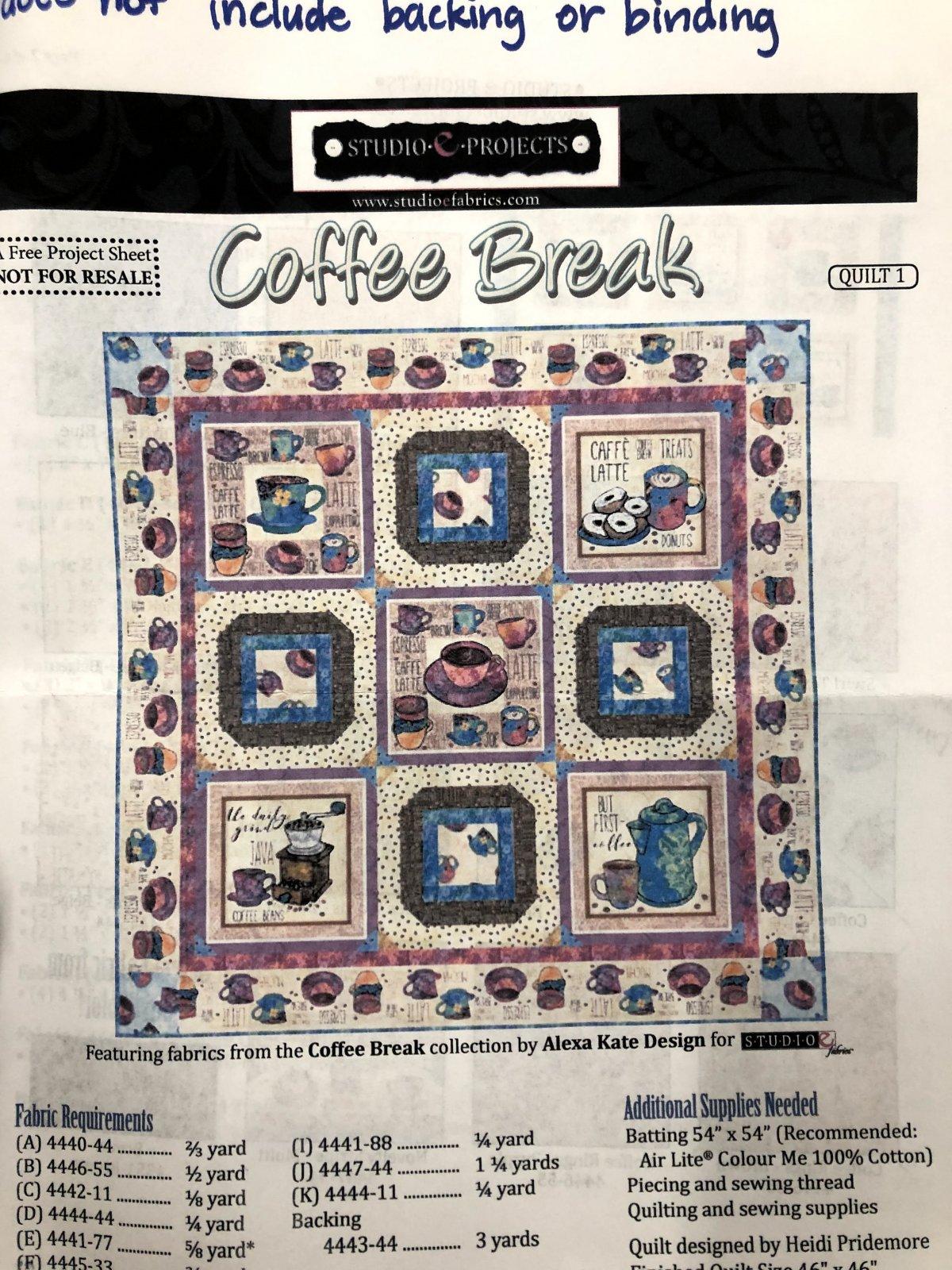 Coffee Break quilt kit