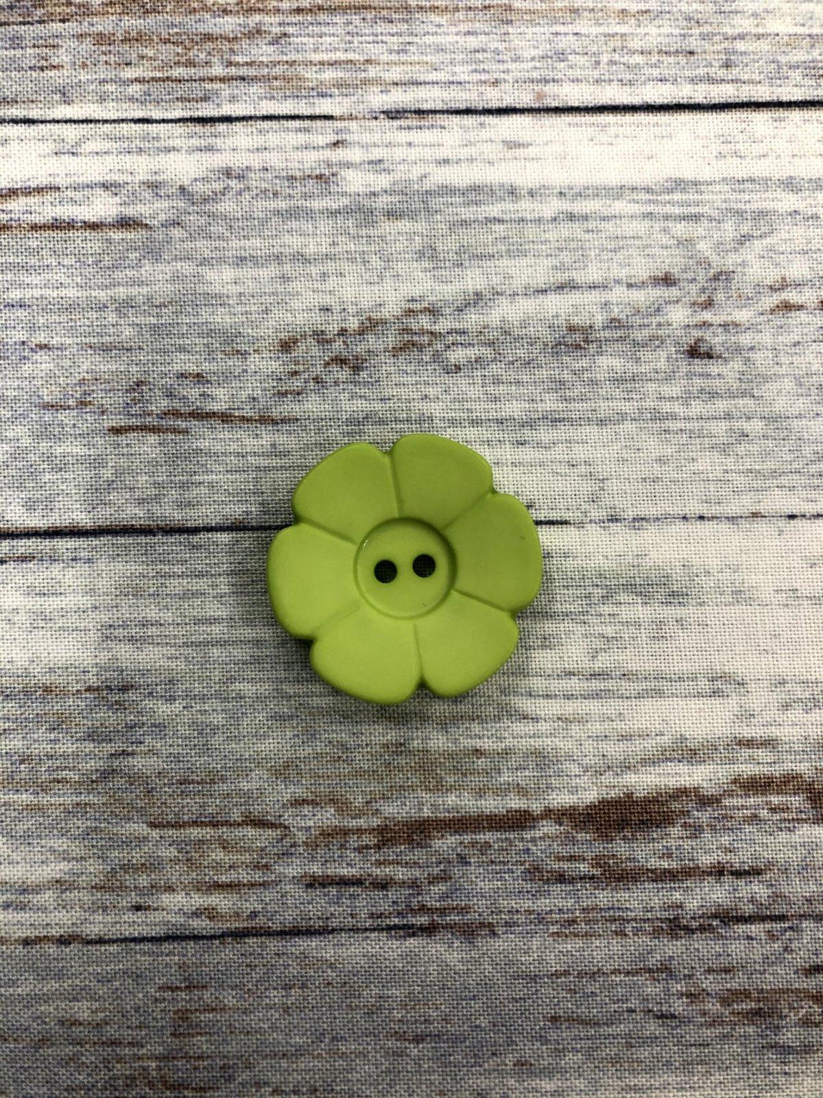 DIll-Buttons 20 Light Green Flower