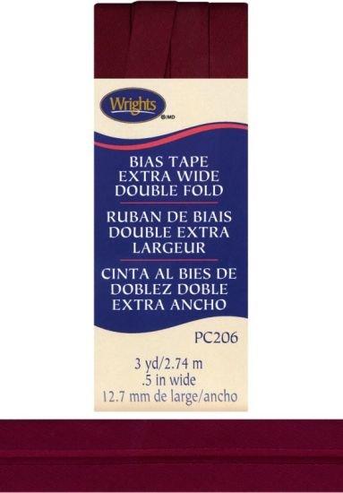 Ex Wide Double Fold OxBlood Bias Tape