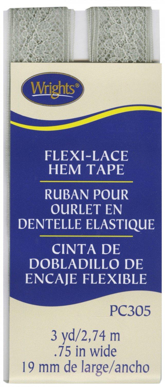 Flexi-Lace Silver Hem Tape