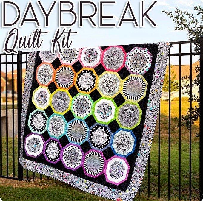 Daybreak Quilt Kit Tula Pink 79x79