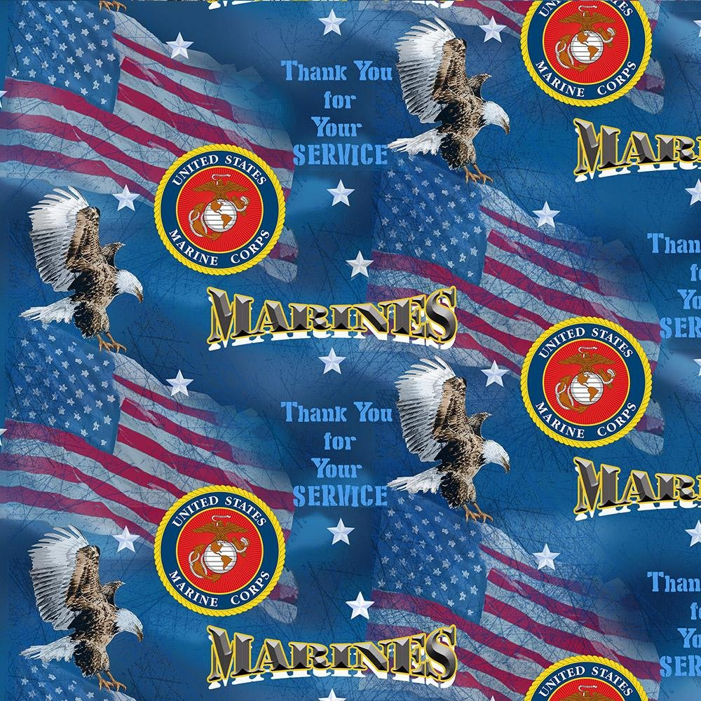 Military Prints Marines Flags All Over