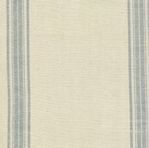Natural Woven Blue Stripe Toweling 16