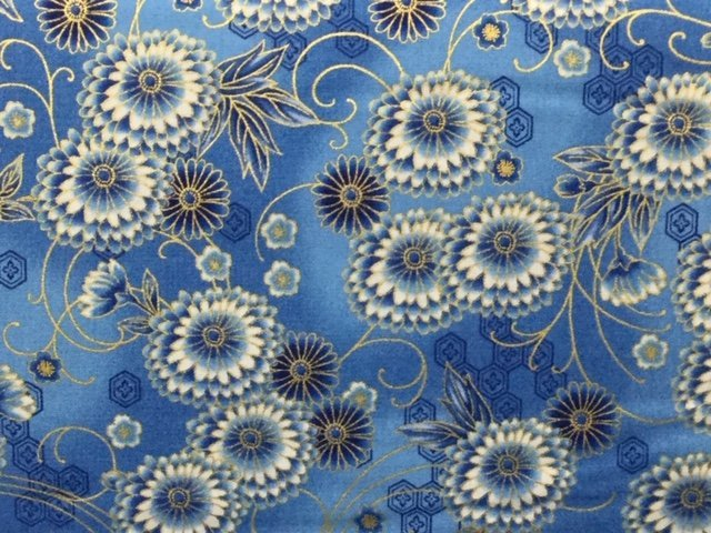 Imperial Collection Light Blue Floral Bursts