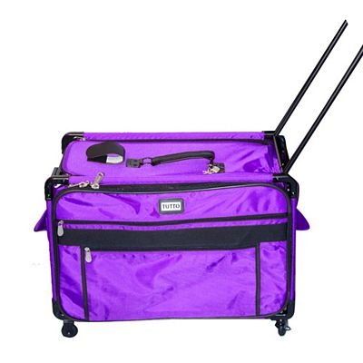 Tutto Large Purple Sewing Machine Roller Tote
