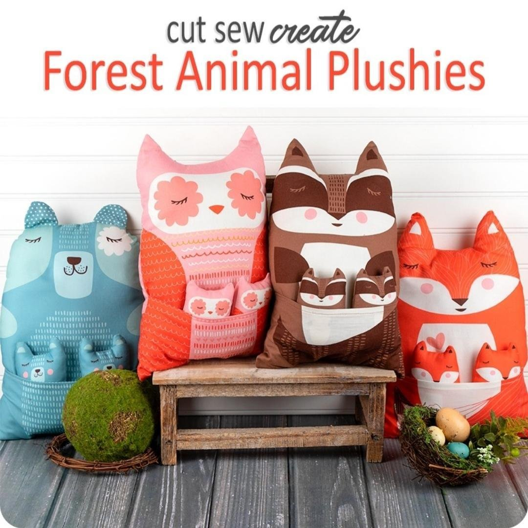 Forest Animal Plushies Panel