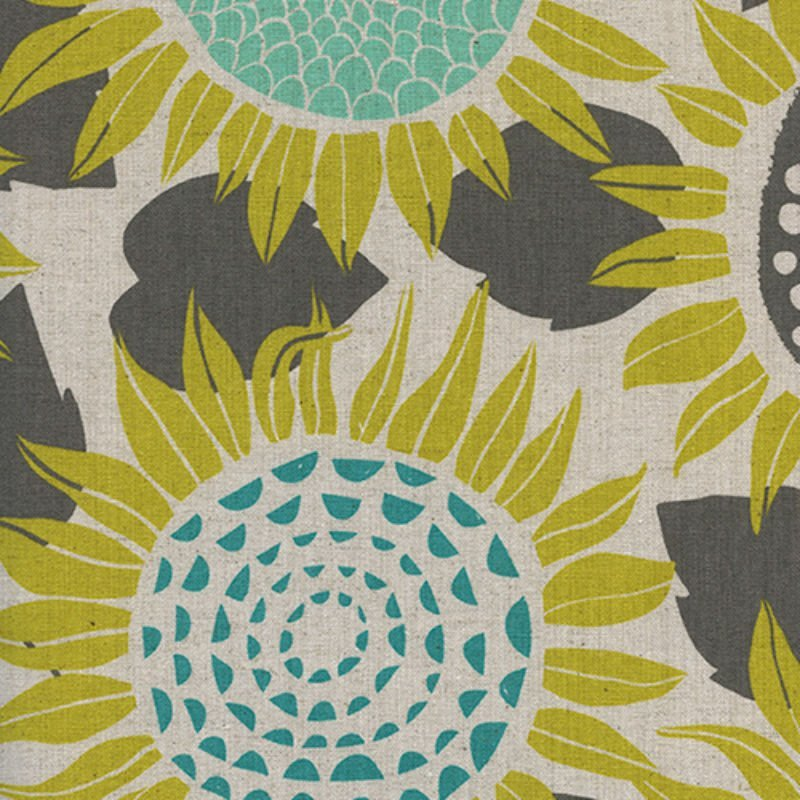 Front Yard Sunflower Canvas Fabric