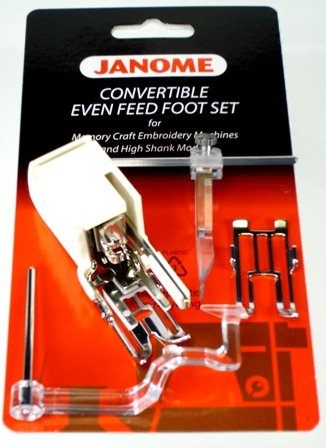 Convertible Even Feed Foot Set For MC Embroidery & High Shank Models