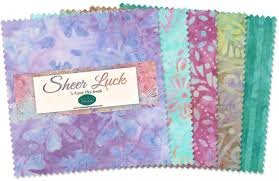 Batiks Sheer Luck 5 Squares