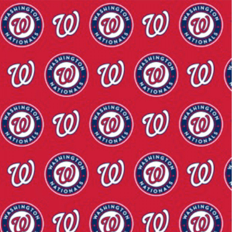 60 Cotton MLB Washington Nationals Red