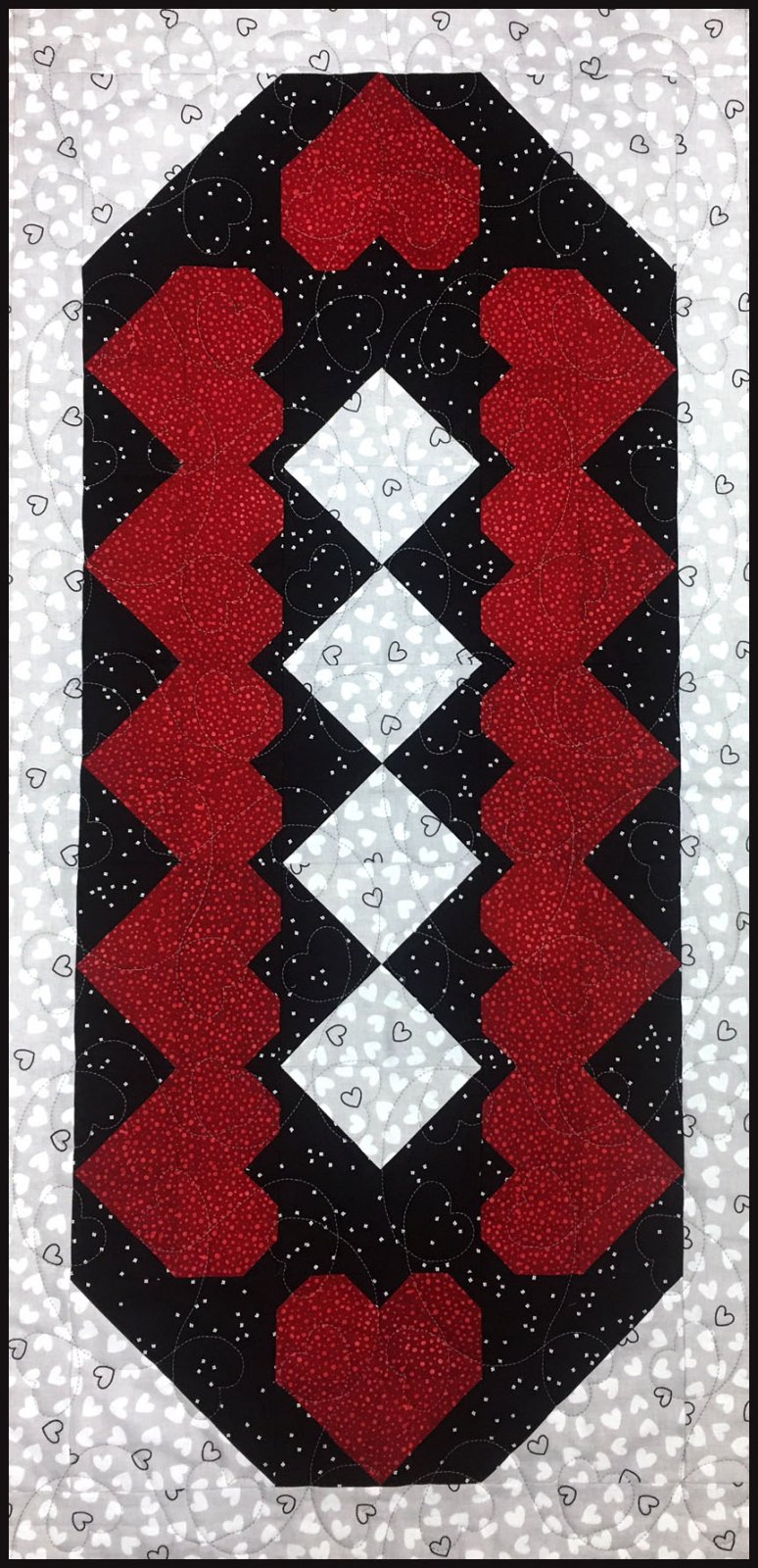 Hearts & Chocolate Diamonds Table Runner Kit (Backing Included!)