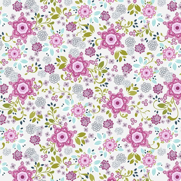 Laugh Love Quilt Pink Flower