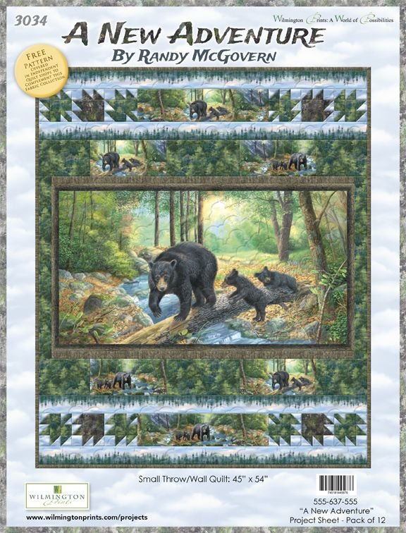 A New Adventure Bears Kit 45 X 54