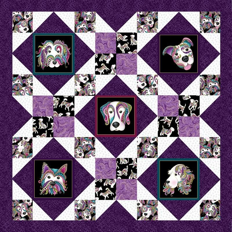 Afternoon Delight Dog On It Purple  Kit by Ann Lauer