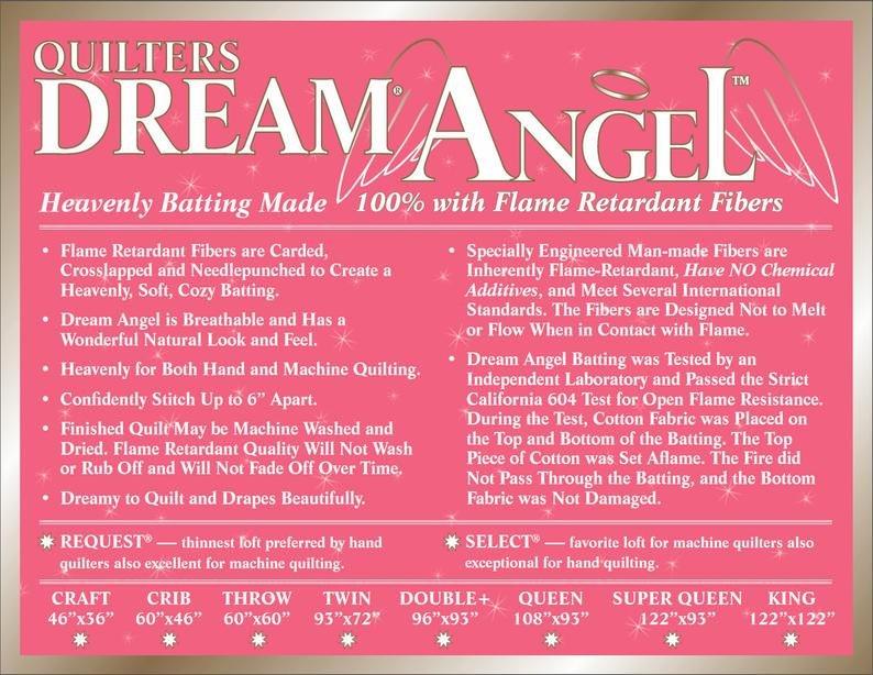 QDB Angel Select Twin 72x 96 100% Flame Retardant