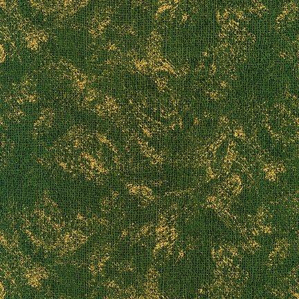 Giving Thanks Green Metallic Weave Texture