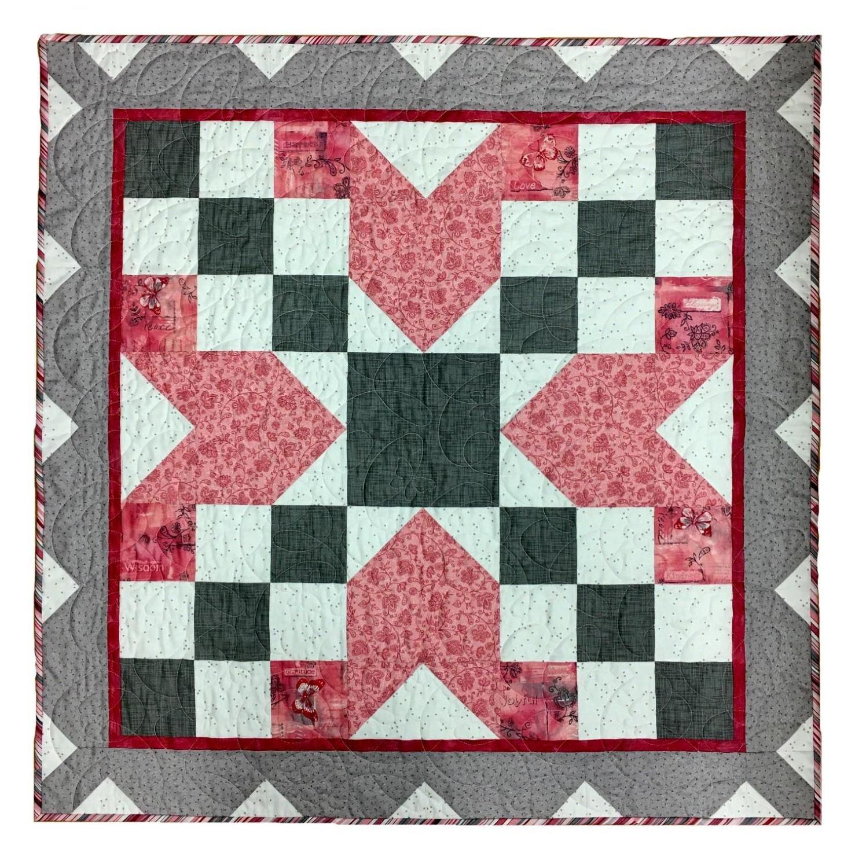 Barn Star 4 Wall Hanging Kit 40 Square Soulful Pinks