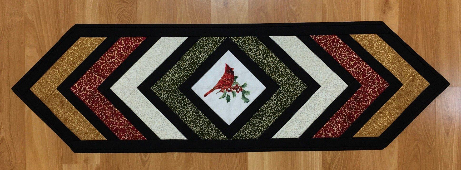 Quilt As You Go Christmas Cardinal Table Runner Kit