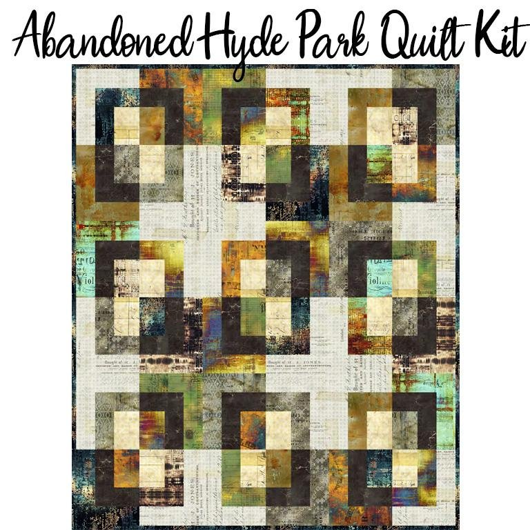 Hyde Park Abandoned Quilt Kit 60x72