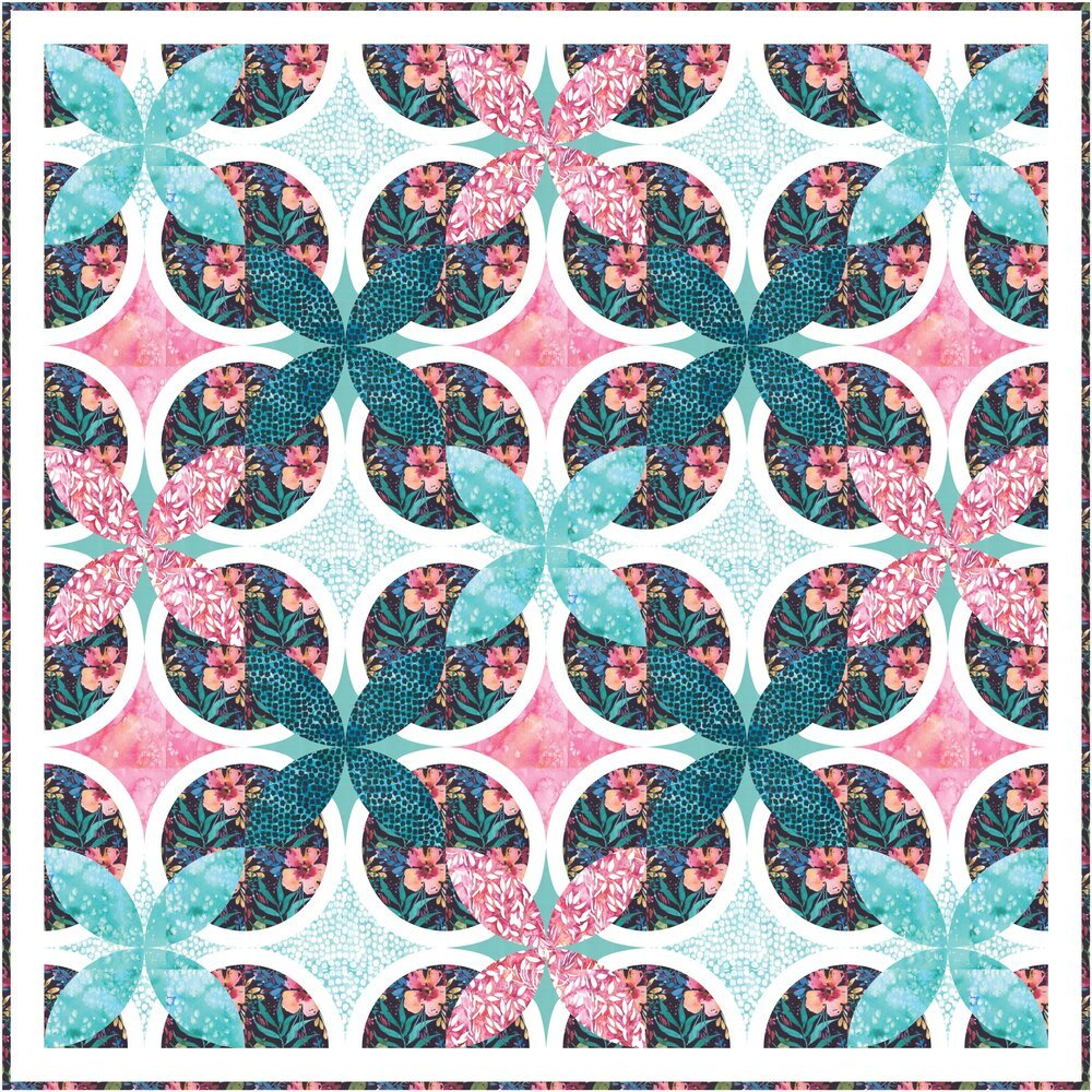 Floral Daydreams Kit Dark Colorway Brightly Blooming 64 X 64