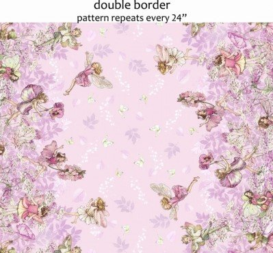 Petal Fairies Border Pink