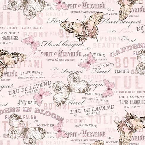 Mon Ami Sentimental Pink Words & Butterflies