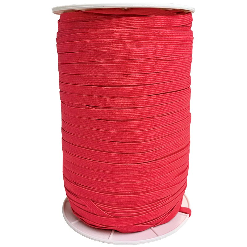 1/4 Soft Elastic Hot Red Latex Free