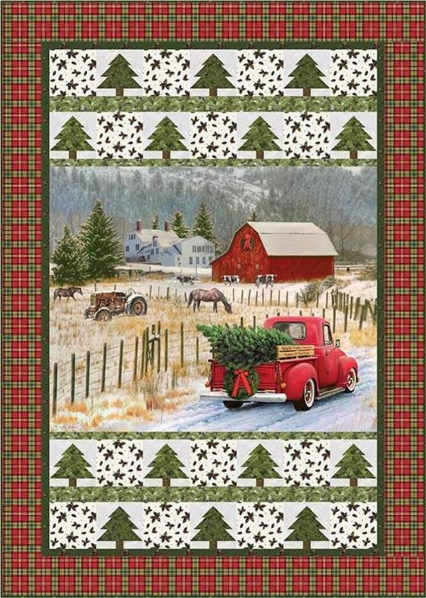 Christmas Memories Truck Throw Size Kit