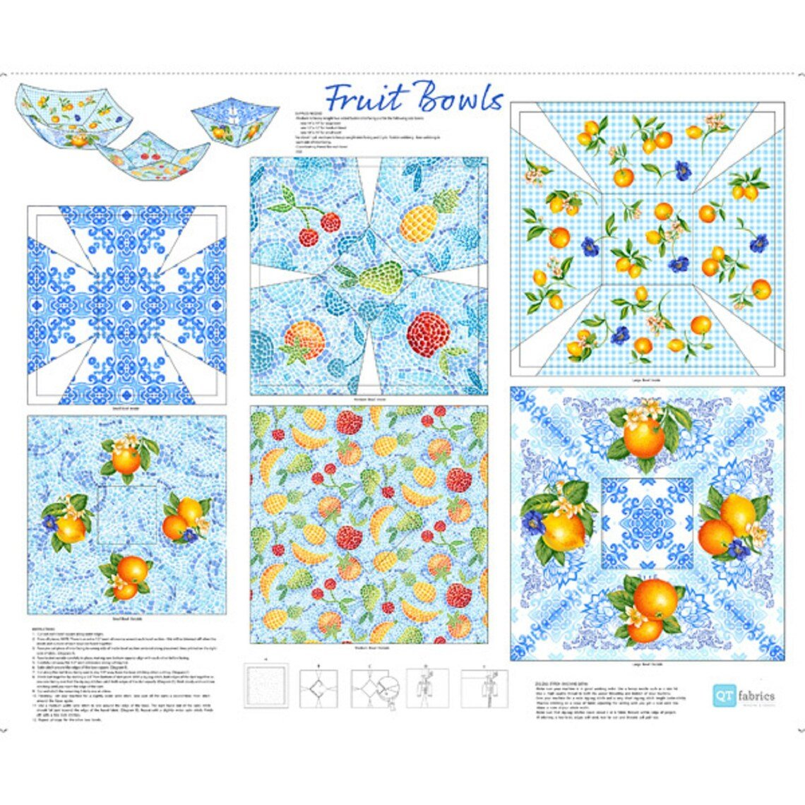 Blue Fruit Bowls Panel
