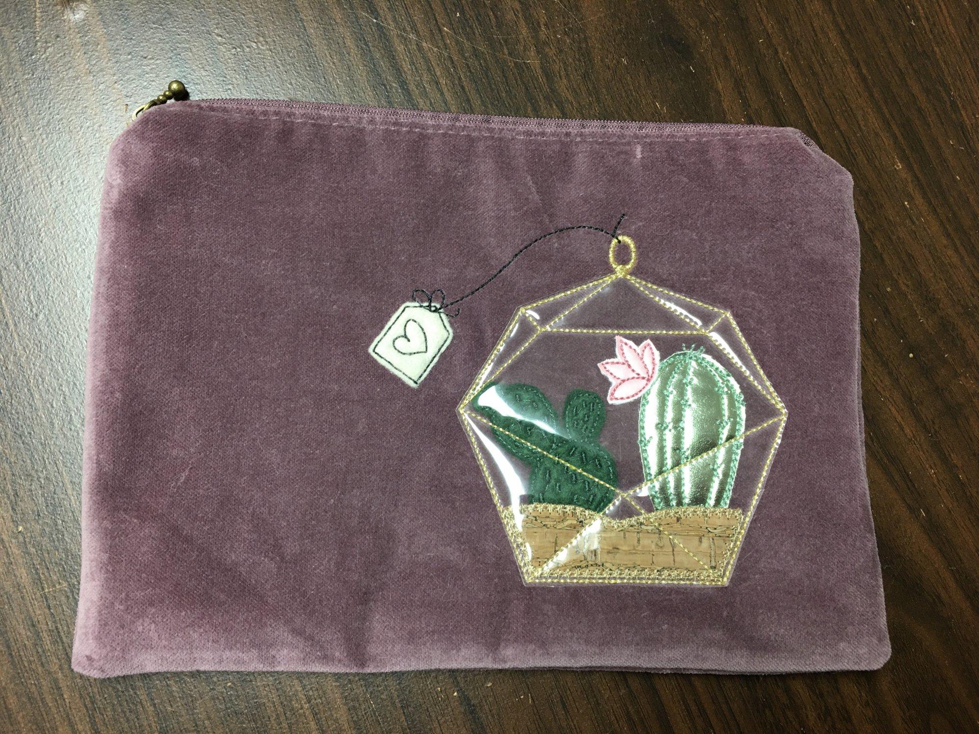 Kimberbell Fill in the Blank April Kit (Amethyst Velvet Bag)
