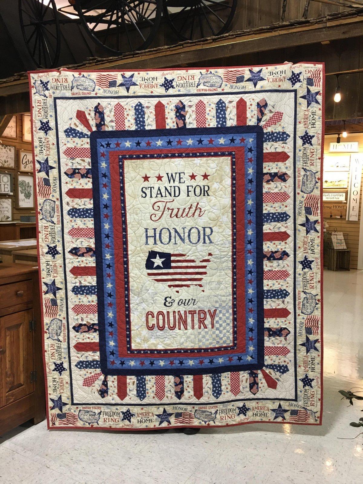 America My Home Patriotic Quilt