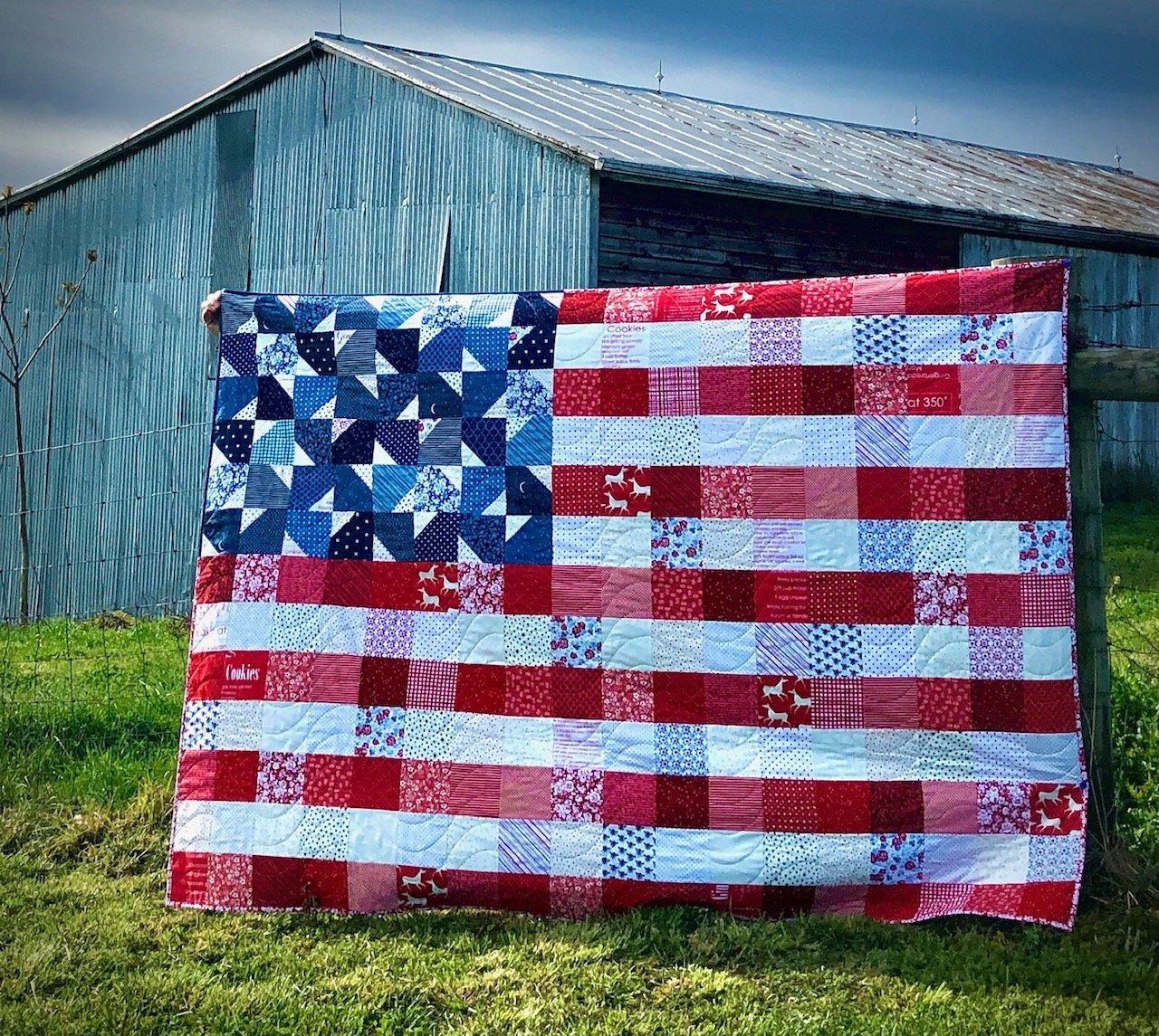 Yankee Doodle Dandy Throw Kit 58.5 x 81