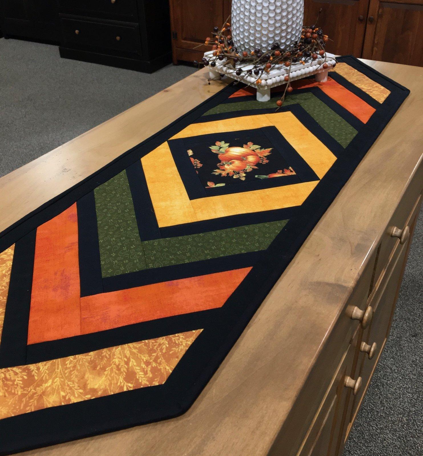 Crossroads Fall Pumpkins Table Runner Kit Quilt As You Go