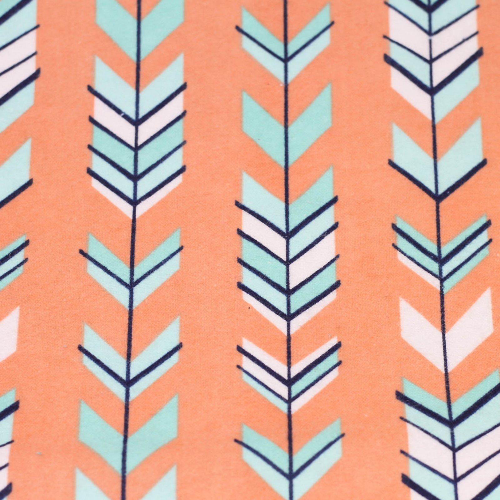 Flannel Orange/Teal/Navy Arrows on Coral