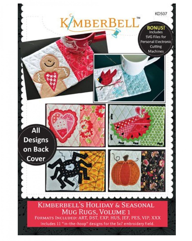 Kimberbell Mug Rugs Vol. 1 Holiday Seasonal In The Hoop Embroidery CD