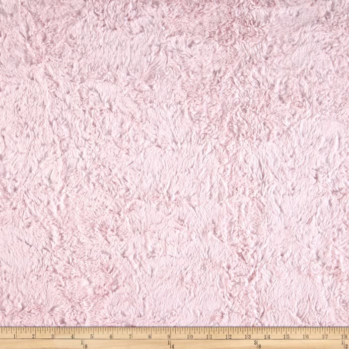 Luxe Cuddle Minky Marble Baby Pink 60 Wide