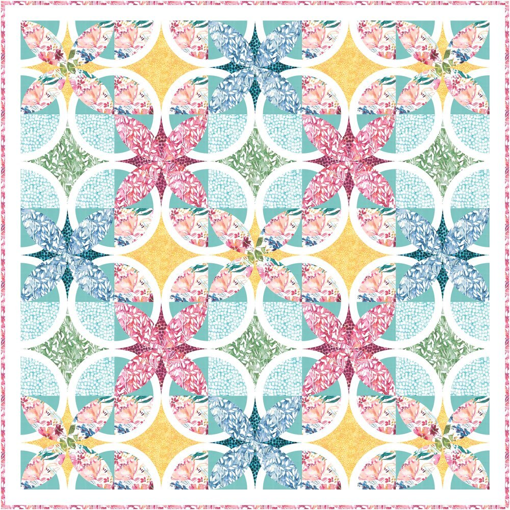 Floral Daydreams Kit Light Colorway Brightly Blooming 64 X 64