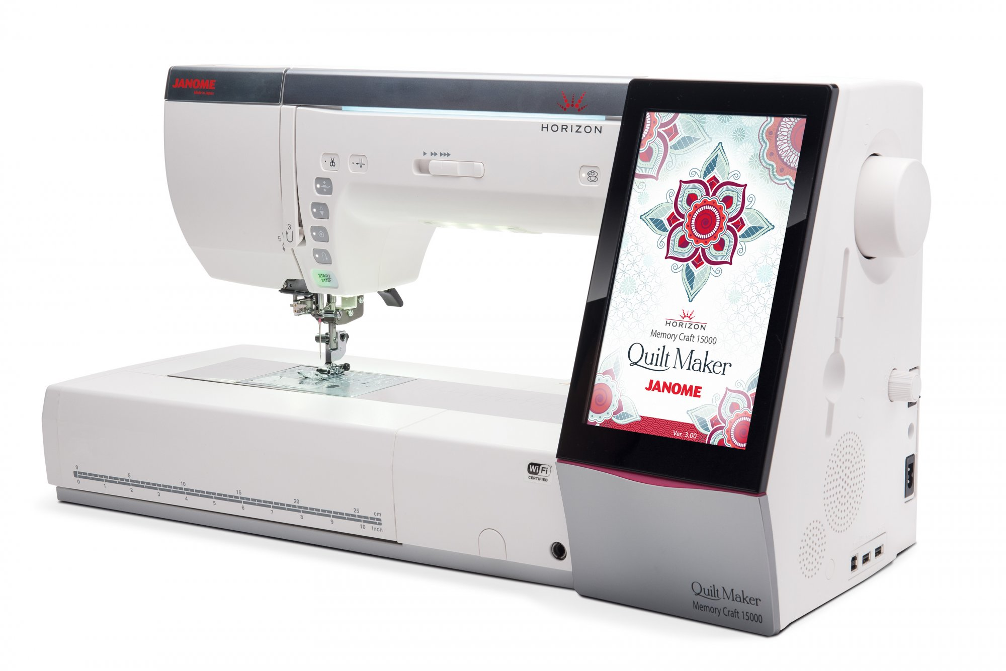 Janome Memory Craft 15000V3 Horizon Quilt Maker Sewing Machine