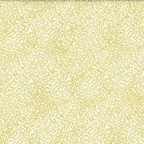 Winter Blossom Gold Scroll on Cream