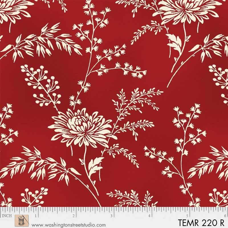 Temperance Red Flower Print