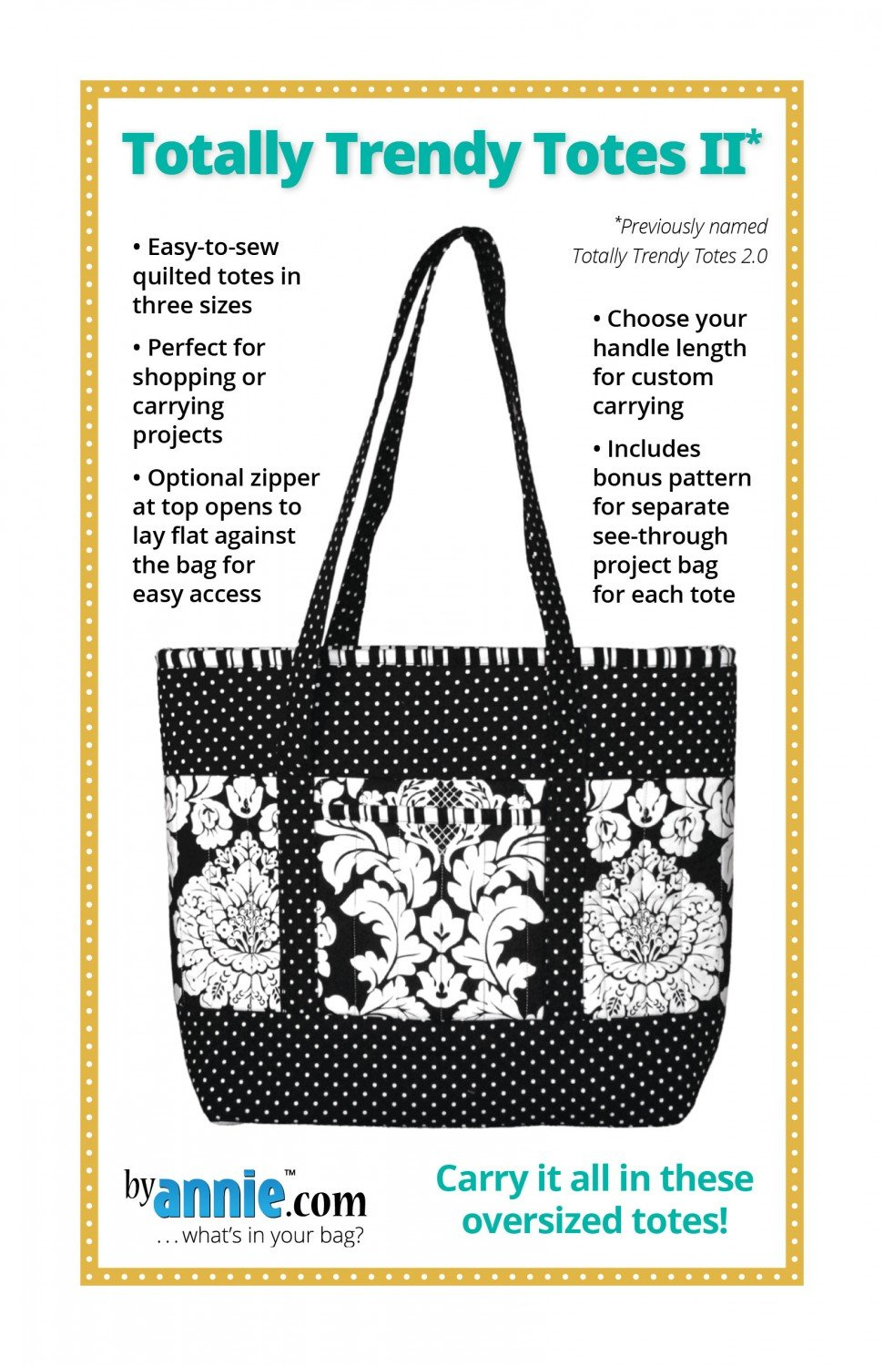 Totally Trendy Totes II Pattern