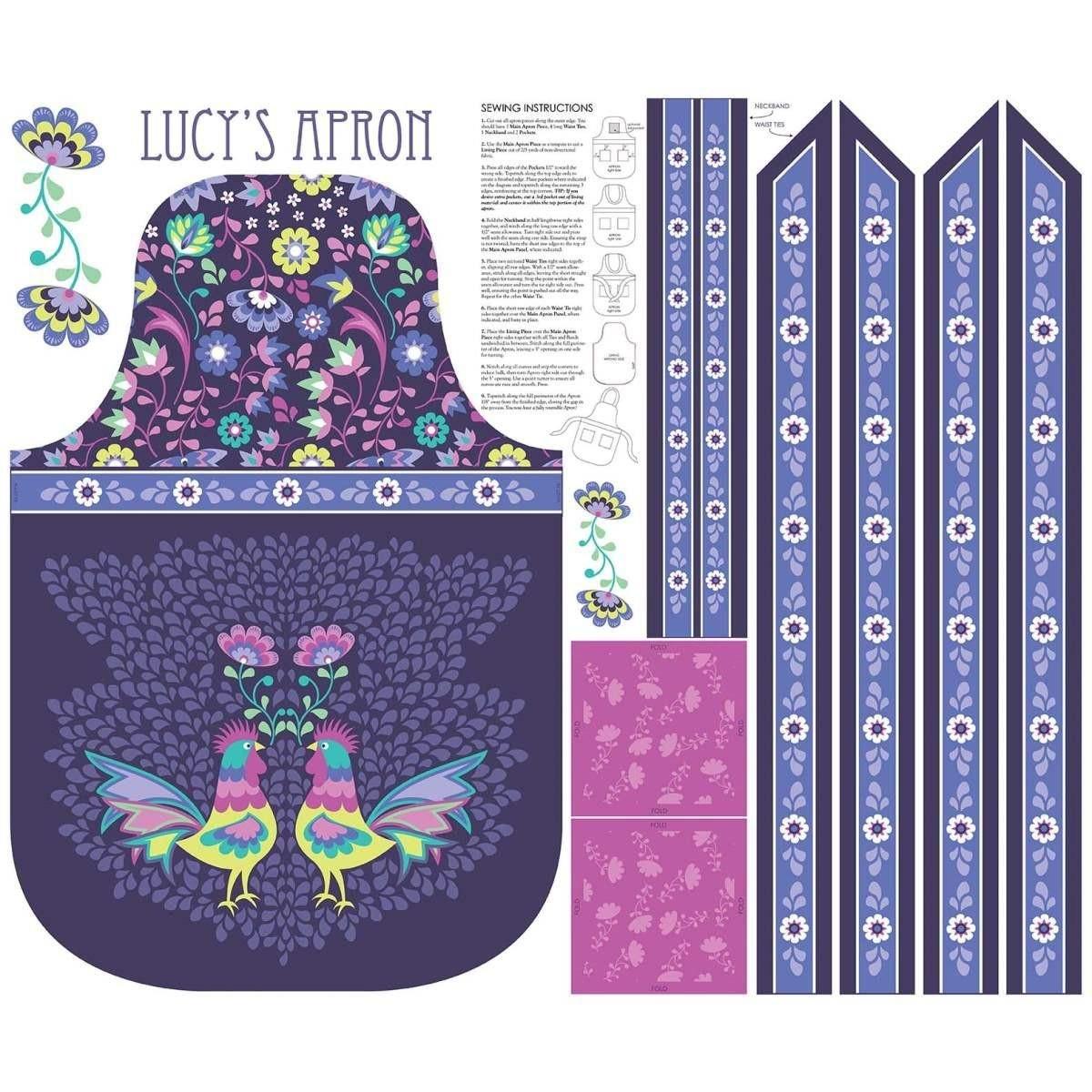 Lucy's Garden Apron Kit Plum