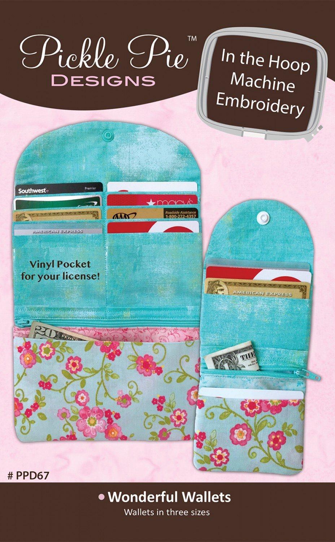 Wonderful Wallets CD Pickle Pie In the Hoop Embroidery