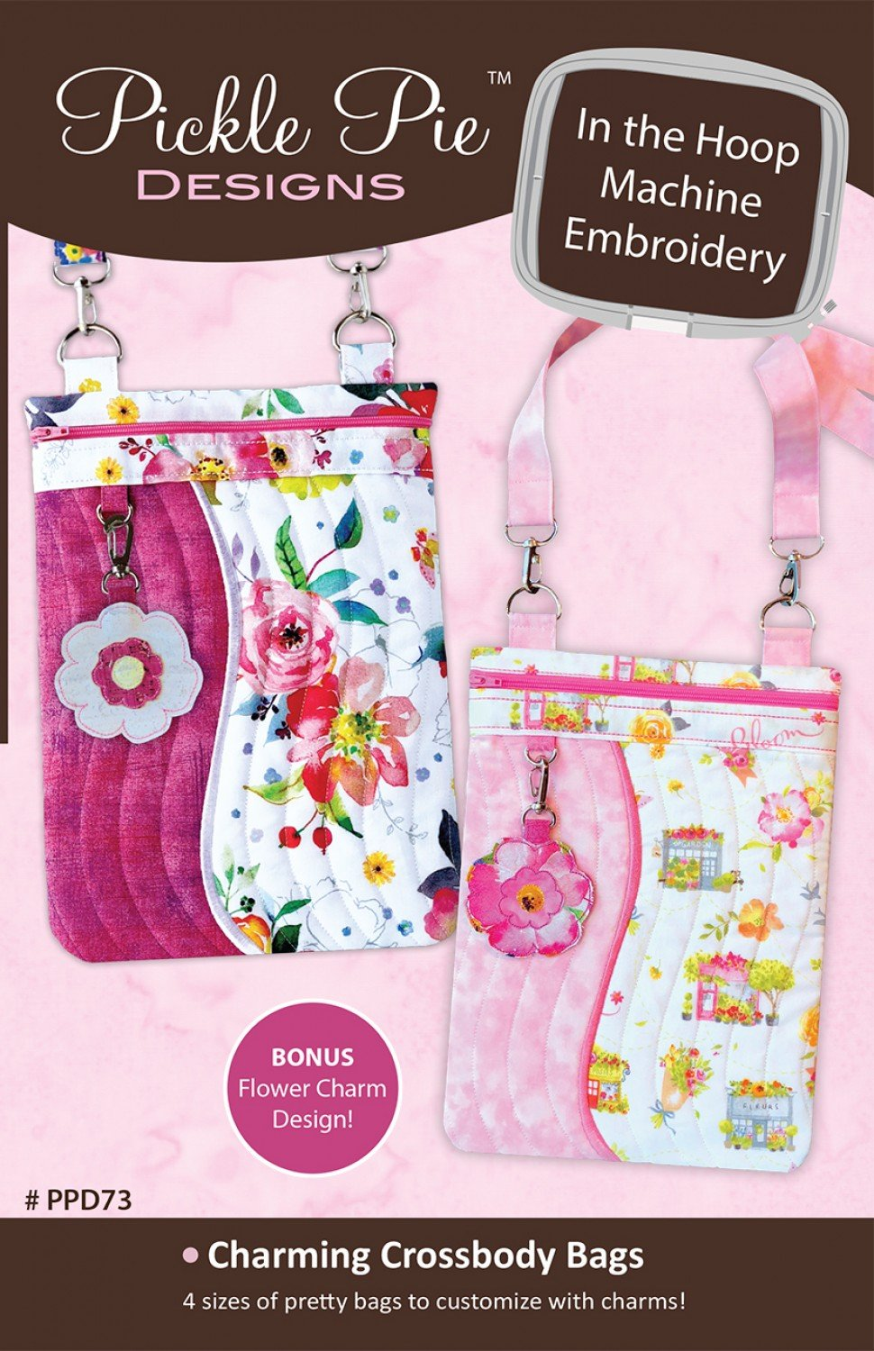Charming Crossbody Bags CD Pickle Pie In The Hoop Embroidery