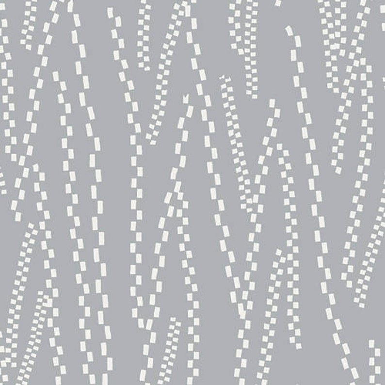 Pastel Thrift Gray with White Track Squares in Segments