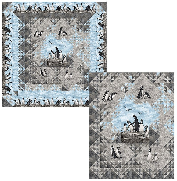 Shimmering Penguins Lap Kit 48x60 Magdalena