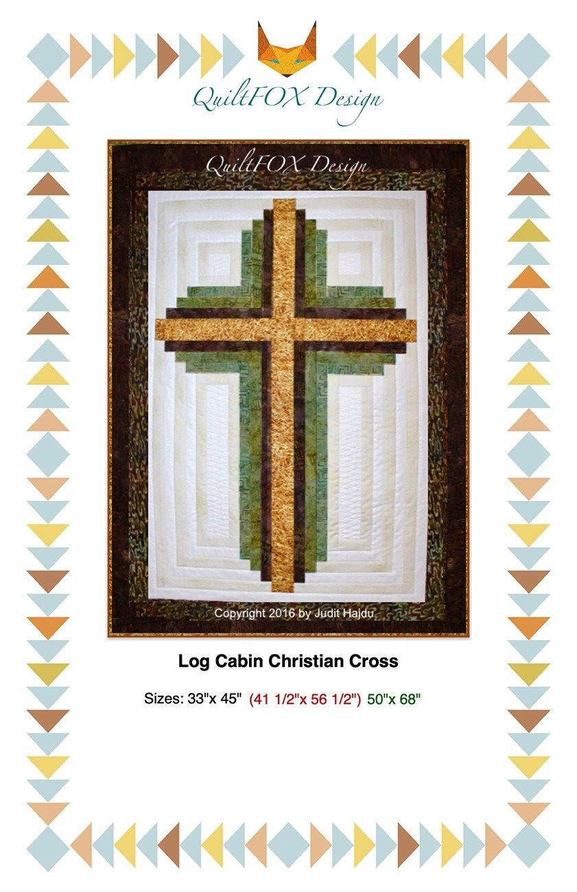 Log Cabin Christian Cross Pattern