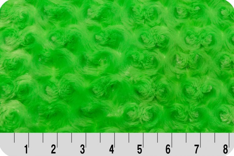 Rose Cuddle Lime Minky 60 Wide