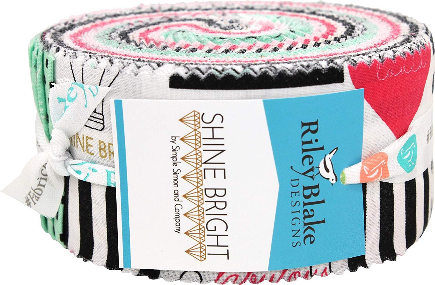 Shine Bright Rolie Polie 2 1/2 Strips Jelly Roll