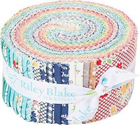 Farm Girl Vintage Rolie Polie 2 1/2 Strips 40 Pieces Jelly Roll